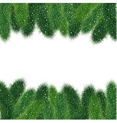 christmas fir tree borders vector image vector image