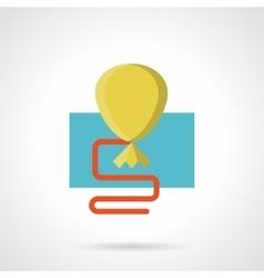Flat color yellow balloon icon vector image vector image