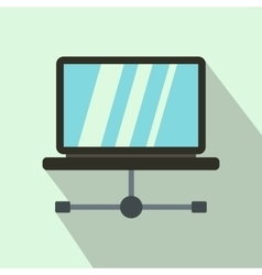 Laptop icon in flat style vector