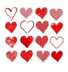 Valentine hearts isolated on white vector image vector image