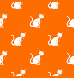 black cat pattern seamless vector image