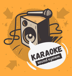 karaoke sound system music design with a speake vector image vector image