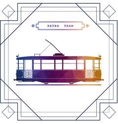 multicolor retro tram car vector image vector image