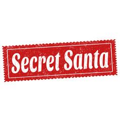 secret santa sign or stamp vector image