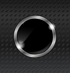 speech bubbles on titanium background - vector image vector image