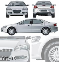 volga siber car vector image