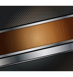 wood banner vector image