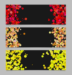 Abstract banner template set with colored circles vector