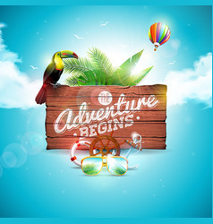 adventure begins typographic vector image