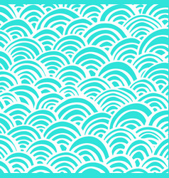 arcs handdrawn pattern-10 vector image