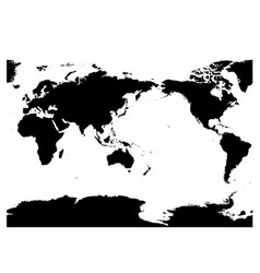 Australia and pacific ocean centered world map vector image gumiabroncs Images