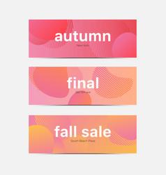 Autumn sale plaza vector