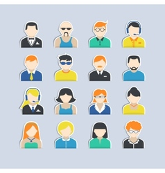 Avatar Characters Stickers Set vector image