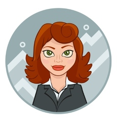 Beautiful young businesswoman with chart vector
