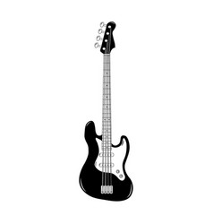 black classic bass guitar isolated vector image