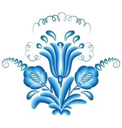 bouquet gzhel vector image
