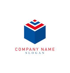 box logo vector image
