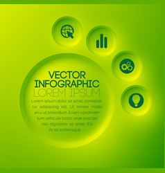 business abstract infographic template vector image