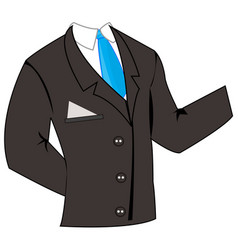 Business suit with tie vector