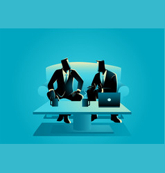 businessmen having a casual meeting vector image