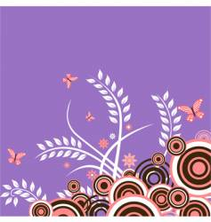 Butterfly floral vector