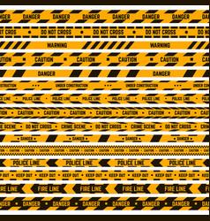 caution stripe border warning yellow black tape vector image
