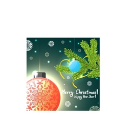 Christmas card with balls and tree eps10 vector image vector image