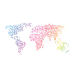 Colorful map of the world vector