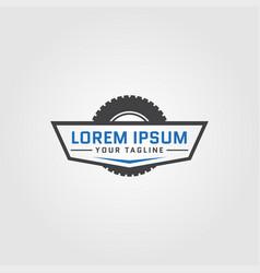 creative auto tire logo concept design templates vector image