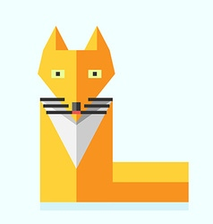Cute bright flat fox vector