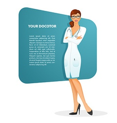 Doctor woman character image vector