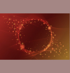 elegant abstract shiny particle with circle space vector image