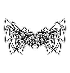Elegant difficult curled ornamental gothic tattoo vector image