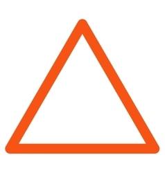 Empty Warning Trinagle Flat Icon vector