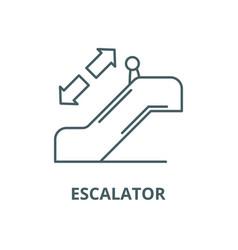 escalator line icon linear concept vector image