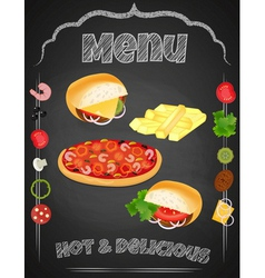 fastfood chalk vector image