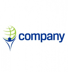 finance world titan company logo vector image
