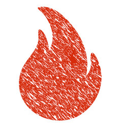 Fire icon grunge watermark vector