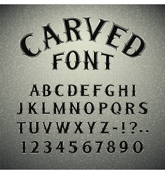 Font Carved in Stone vector image