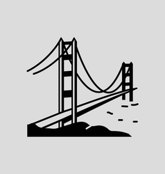 golden gate bridge royalty free vector image vectorstock rh vectorstock com  golden gate bridge silhouette vector