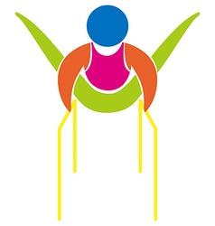Gymnastics with parallel bars icon vector