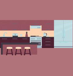 interior modern kitchen vector image
