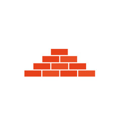 Isolated construction bricks flat design vector