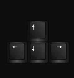 keyboard black vector image