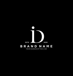 Letter di logo design vector