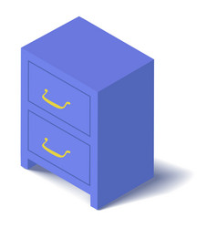 Locker icon isometric 3d style vector