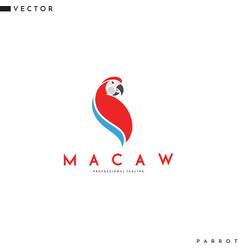 Macaw parrot logo vector