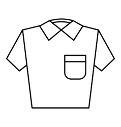 Men polo icon outline style vector image