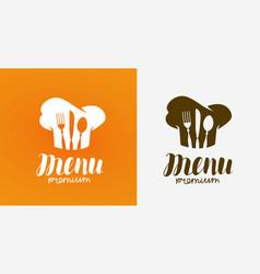 menu logo cuisine cooking symbol vector image
