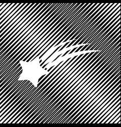 Meteor shower sign icon hole in moire vector